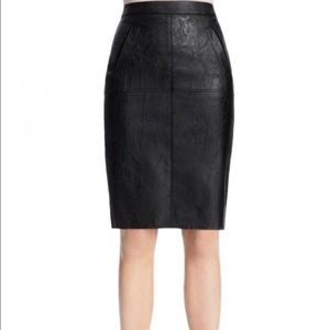 Cabi. Black faux leather pencil skirt. Size 0